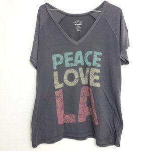 Old Navy XL Tee Shirt PEACE LOVE LA Graphic Top